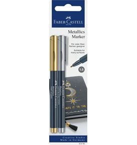 Faber-Castell - Metallics Marker, heart of gold/nothing else metals